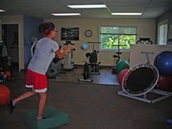 balance exercise at physical therapy